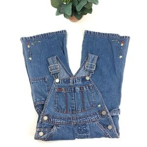 GAP | Floral Embroidered Denim Overalls size XXS